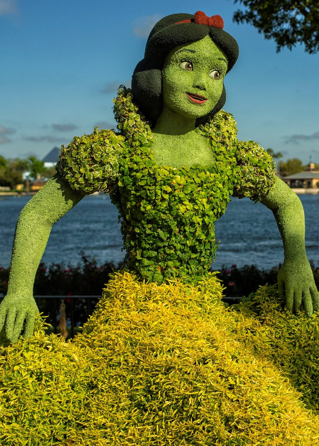 The Snow White topiary is a fan favorite at the Epcot International Flower and Garden Festival