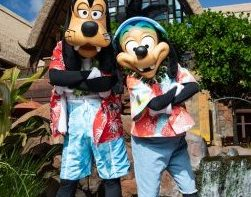 Goofy and Max characters at Disney's Aulani Resort in Hawaii