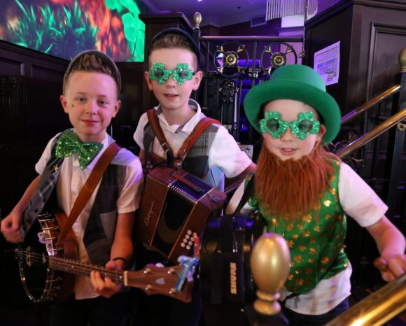 Musicians from Ireland play at the Might St. Patrick's Day Festival at Raglan Road at Disney Springs