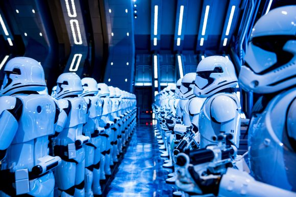 Stormtroopers in Star Wars: Rise of the Resistance at Disney's Hollywood Studios at Walt Disney World