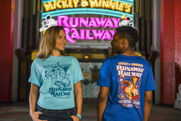 New graphic t-shirts are being released in conjunction with the opening of Mickey and Minnie's Runway Railway at Walt Disney World.