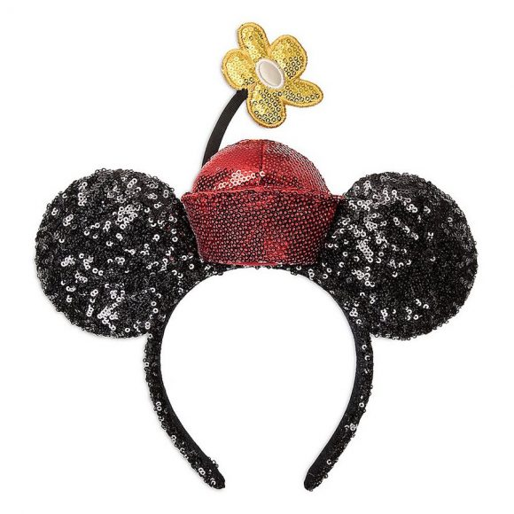 Minnie Mouse sequined earbands in black