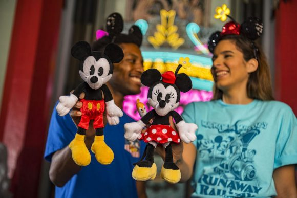 Mickey and Minnie plush for the runaway railway opening at Disney's Hollywood Studios