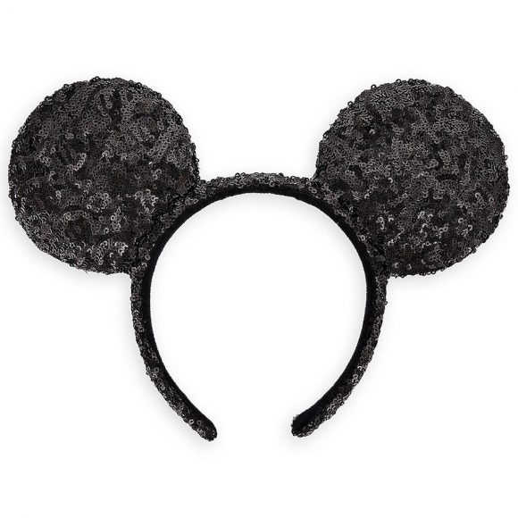 Mickey mouse sequined earbands in black